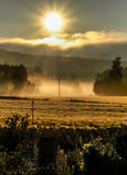 Sunrise. Over a field in Jyvaskyla, Finland Stock Photo