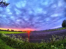 Sunrise over the Fields Royalty Free Stock Images