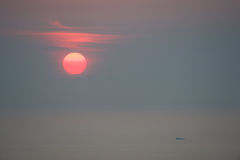 Sunrise over fishing boat Royalty Free Stock Photography