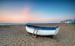 Sunrise over Fishing Boats at Aldeburgh. Sunrise at Aldeburgh, a pretty fishing village on the Suffolk coast Royalty Free Stock Photography