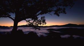 Sunrise over Foggy Appalachian Mountains Royalty Free Stock Image