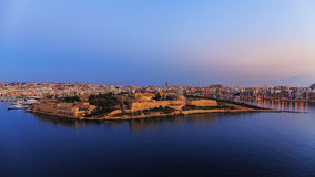 Sunrise over Fort Manoel, Malta. Sunrise over the Fort Manoel near Valletta, Malta Royalty Free Stock Images