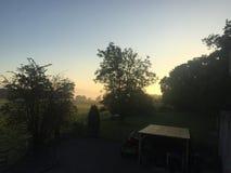 Sunrise over Glascoed Lodge royalty free stock photography