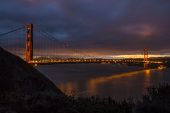 Sunrise Over Golden Gate Bridge Stock Images