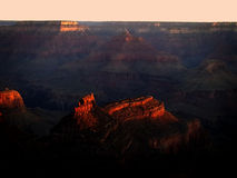 Sunrise over the Grand Canyon Stock Images