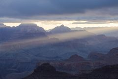 Sunrise over the Grand Canyon Arizona, USA. Grand Canyon sunrise. Landscape in Arizona, United States royalty free stock images
