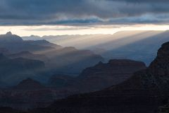 Sunrise over the Grand Canyon Arizona, USA royalty free stock photography