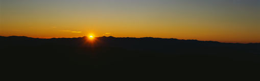 Sunrise over the Great Smoky Mountains Stock Photography