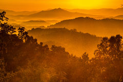 Sunrise over Great Smoky Mountains Royalty Free Stock Photos