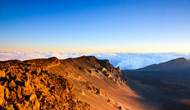 Sunrise over Haleakala, Maui Hawaii Royalty Free Stock Photos