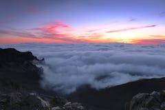 Sunrise over Haleakala Stock Photos
