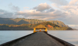 Sunrise over Hanalei Bay Kauai Hawaii Stock Photography