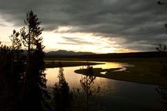 Sunrise over the hayden valley, yellowstone Stock Photo