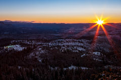 Sunrise over High Plateau at Lava Point Royalty Free Stock Photo