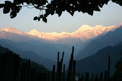 Sunrise over Himalayan mountains Royalty Free Stock Image