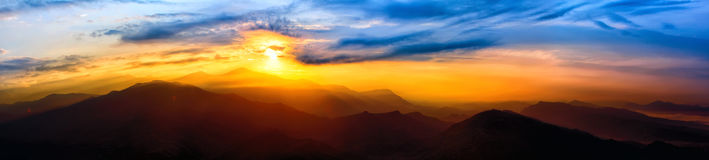 Sunrise over The Himalayas Royalty Free Stock Photography