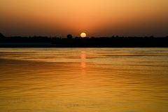 Sunrise over the Holy River Ganges Stock Photo