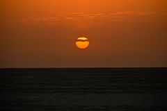 Sunset in the rann of Kutch Stock Photo