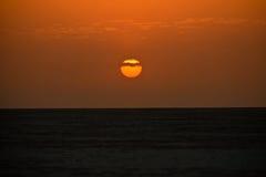 Sunset in the rann of Kutch Stock Photo