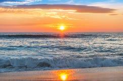 Sunrise over the horizon. Royalty Free Stock Photo