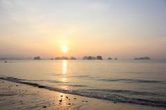 Sunrise over horizon in Koh Yao Noi, Pangnga, Thailand stock photos