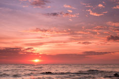Sunrise over the Horizon of the Sea Stock Image