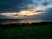 Sunrise over the Humber Estuary, east England Stock Photo