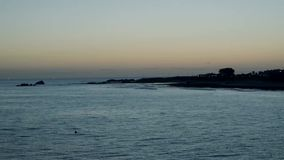 Sunrise over the Indian ocean in Port Elizabeth stock video
