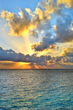 Sunrise over the Indian Ocean Royalty Free Stock Photography