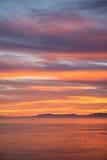 Sunrise over Inner Passage, Alaska Stock Image