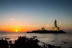 Sunrise over Kanyakumari Stock Photos