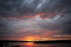 Sunrise over the Kazinga channel. Africa. Uganda. Stock Images