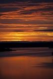 Sunrise over the Kazinga channel. Africa. Uganda. Royalty Free Stock Images