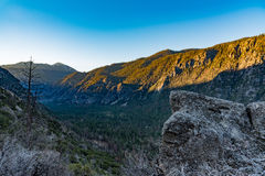 Sunrise over Kings Canyon. Dawn at the valley of Kings Canyon, taken near Cedar Grove Stock Images