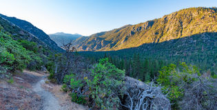 Sunrise over Kings Canyon. Dawn at the valley of Kings Canyon, taken near Cedar Grove Royalty Free Stock Photo