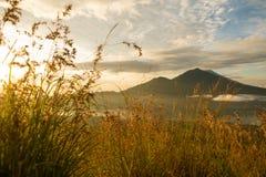 Sunrise over lake Batur Royalty Free Stock Photo