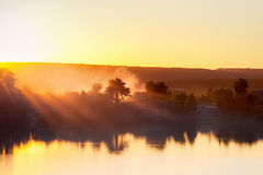Sunrise over the lake Royalty Free Stock Photo