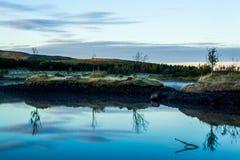 Sunrise over Lake Hvaleyri Iceland Royalty Free Stock Photos