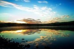Sunrise over Lake Hvaleyri Iceland Stock Images