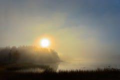 Sunrise over lake Stock Photos