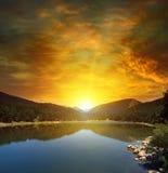Sunrise over lake Royalty Free Stock Photo