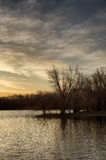 Sunrise over a lake near the Des Moines river Royalty Free Stock Photos