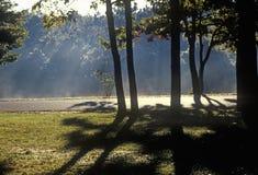 Sunrise over lake, New England Stock Photography
