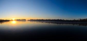 Sunrise over the lake Royalty Free Stock Photo