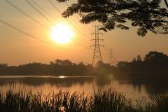 Sunrise over lake Stock Photography