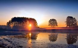 Sunrise over the lake Royalty Free Stock Image