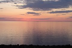 Sunrise over Lake Superior Stock Photography