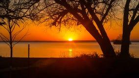 Sunrise. Over Lake Superior near Washburn Wisconsin Royalty Free Stock Images