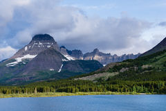 Sunrise over Lake Swiftcurrent in Glacier National Park Royalty Free Stock Images