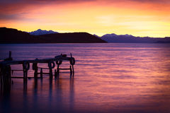 Sunrise Over Lake Titicaca in Bolivia Royalty Free Stock Images